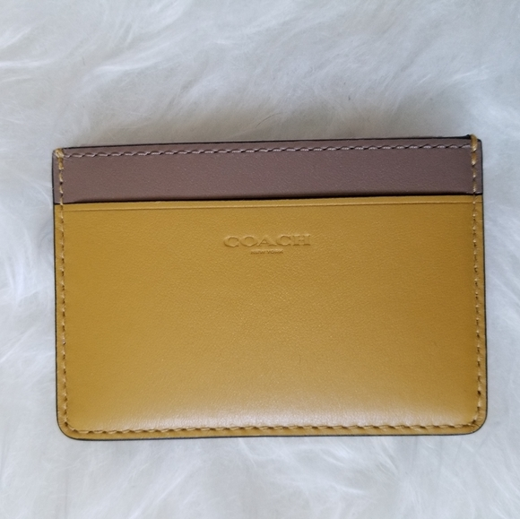 Coach leather card holder case